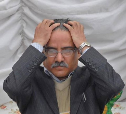 Prachanda in tense mood