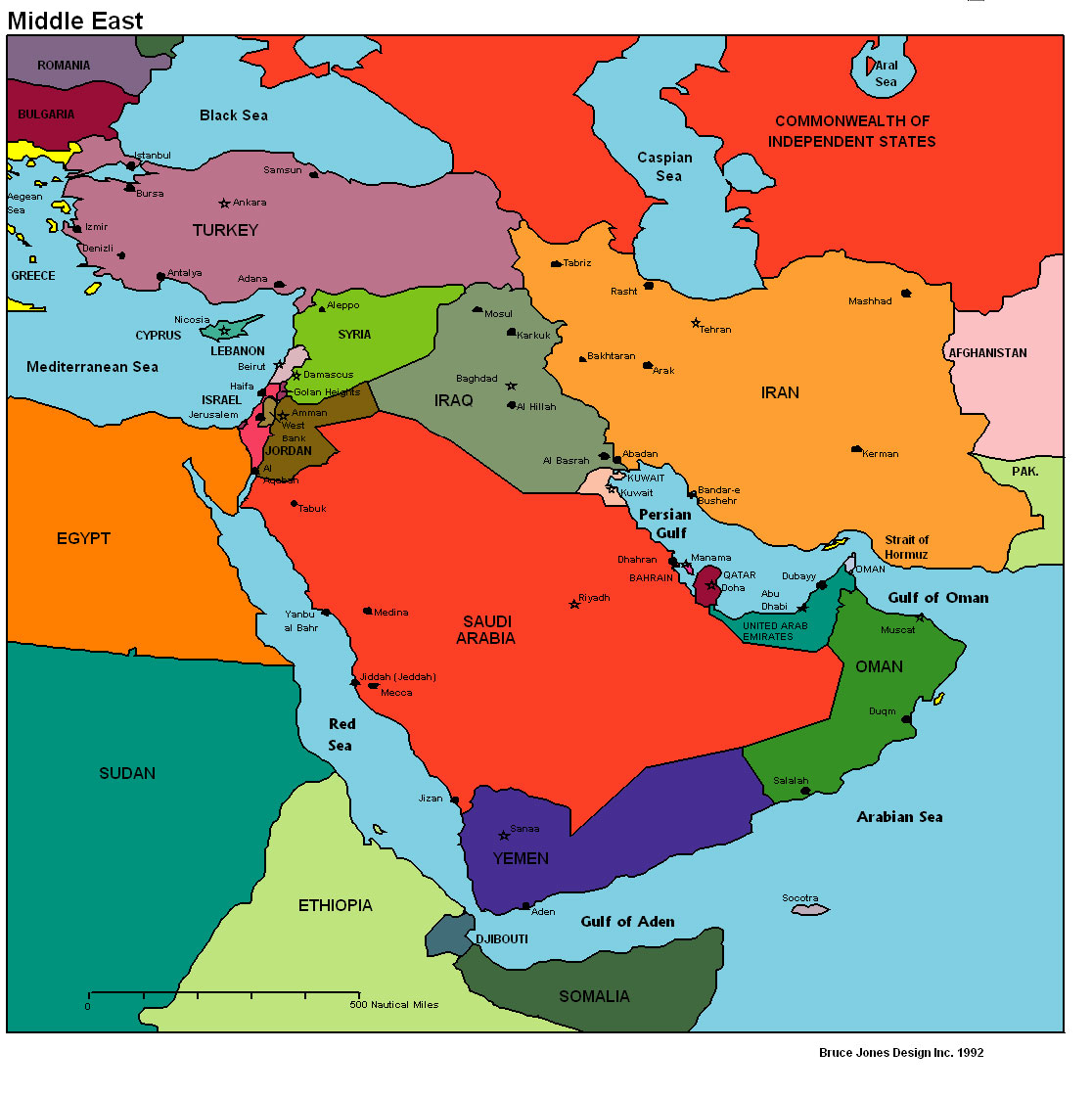 middle-east-political-map - Integration Through Media ....!