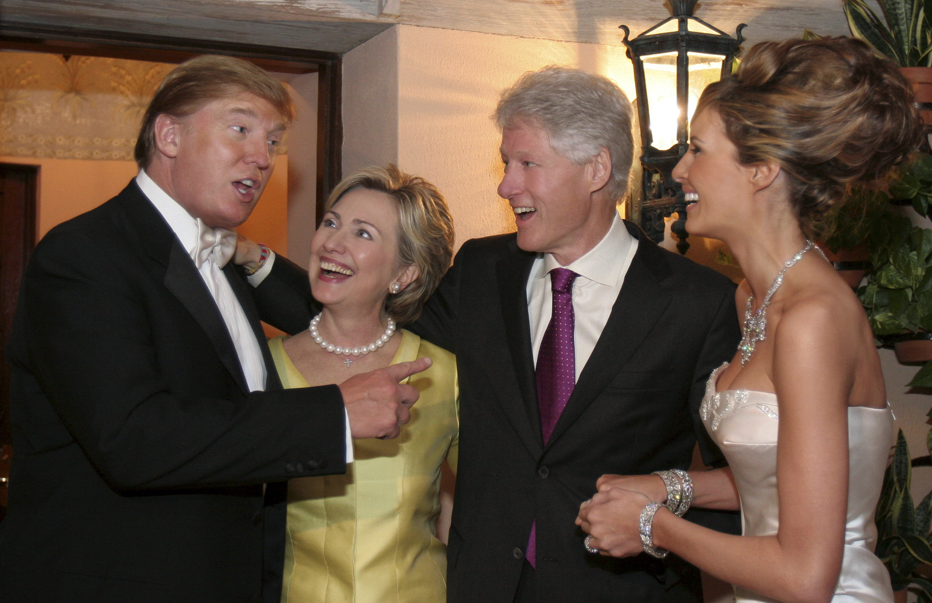 Trump with Hillary family