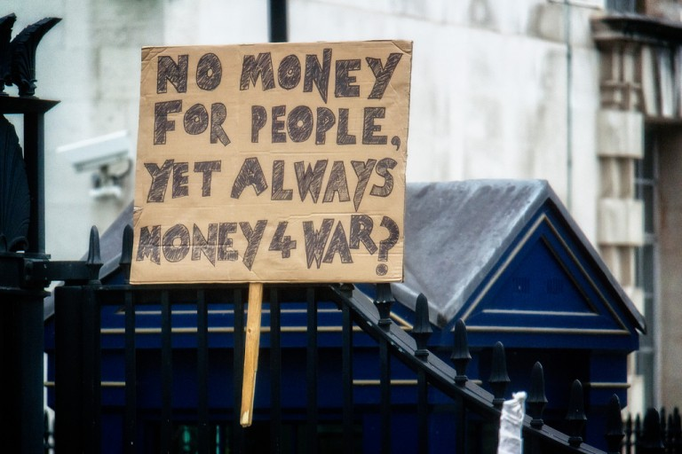 No money for people, yet always money for war