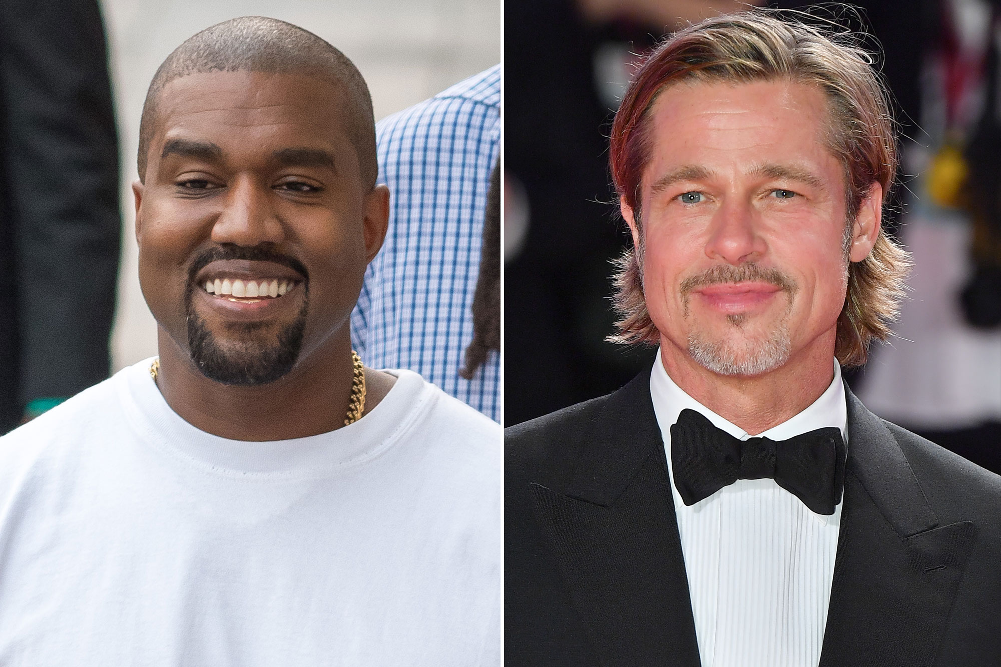 Brad Pitt at Kanye West Sunday church service