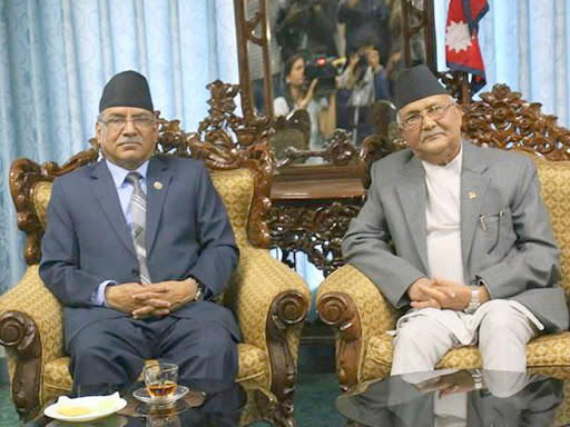 Prachanda-Oli meet; Prachanda briefs PM about current affairs ...